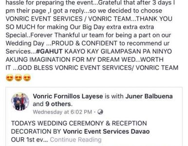 Another satisfied bride of von… - satisfied services in Davao City