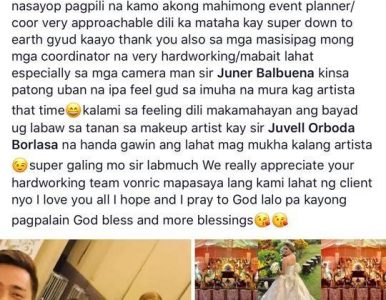 A very satisfied bride,  Salam… - satisfied services in Davao City