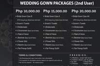 Wedding gown updated rates  Pr… - updated services in Davao City